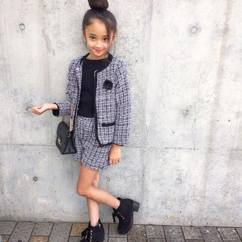 (即納♡)(kids☆)ツィ―ドスーツ(ジャケット&ショーパン2点SET)