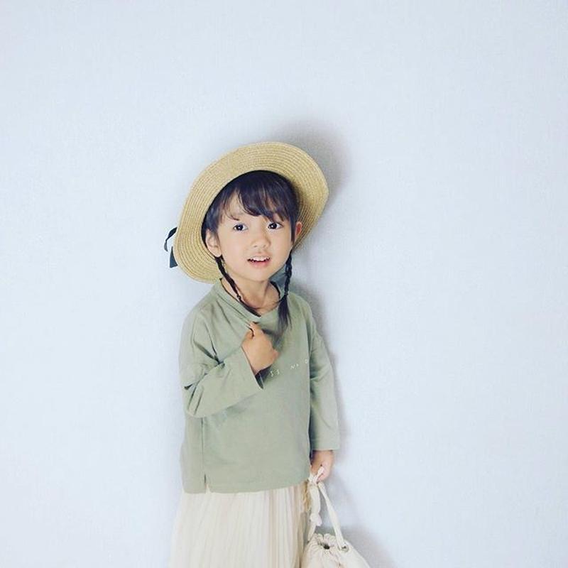 (即納♡)(kids☆くすみグリーンロングTシャツ