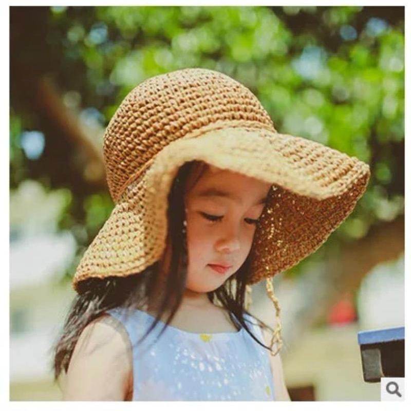 (即納♡)(kids)つばひろ むぎわら帽子