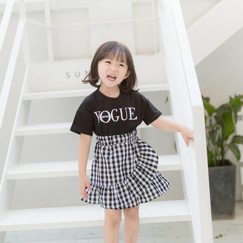 (即納♡)(kids☆)VOGUEギンガム切替ワンピース
