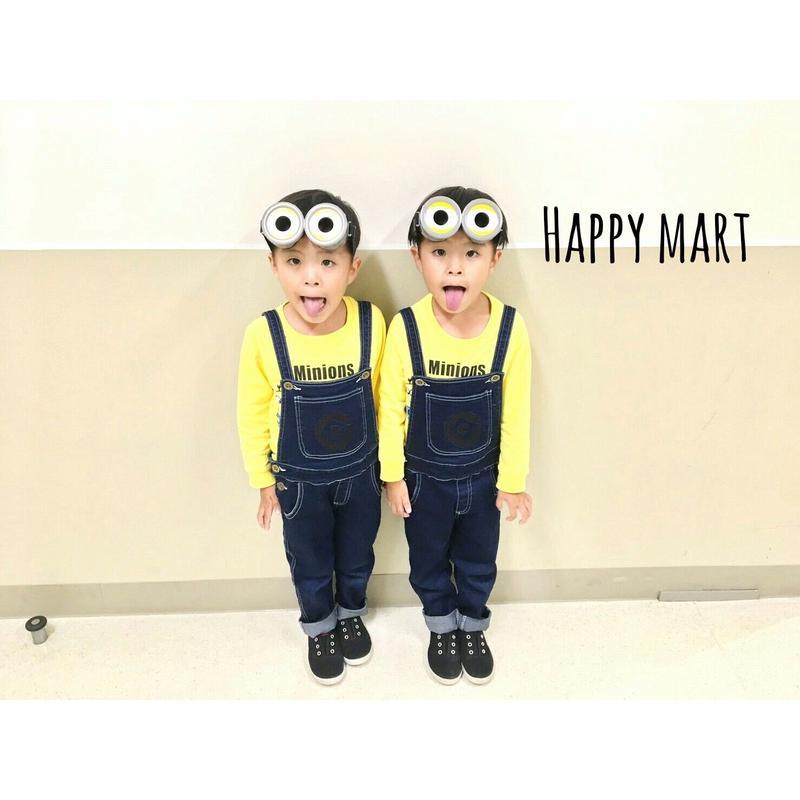 (即納♡)(kids☆)ミニオンロングT&サロペット&メガネセット