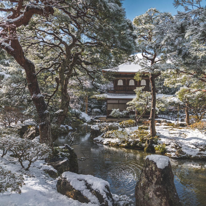 (Lightroom preset)日本庭園雪景色