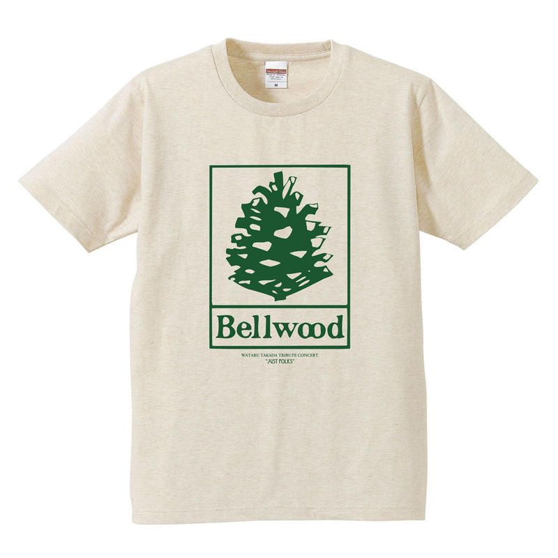 "高田漣 ""Bellwood Records × Just Folks""T-Shirts ヘザーベージュ"