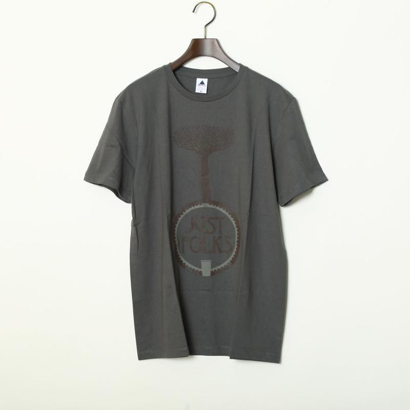 """高田漣 """"Just Folks"""" T-Shirts チャコール"""