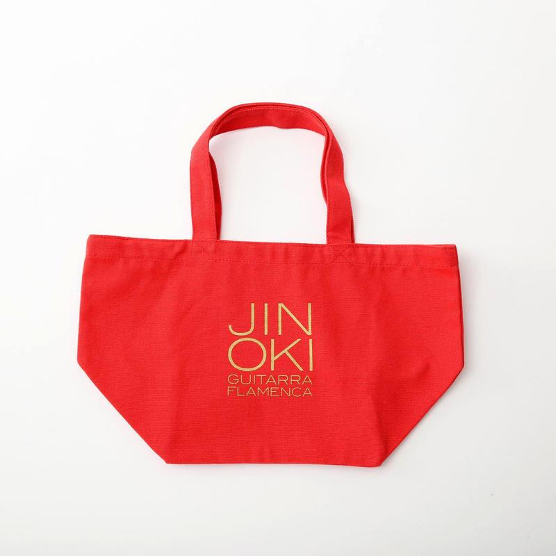 """沖仁""""JIN OKI ランチトートバッグ""""(レッド×ゴールド)"""