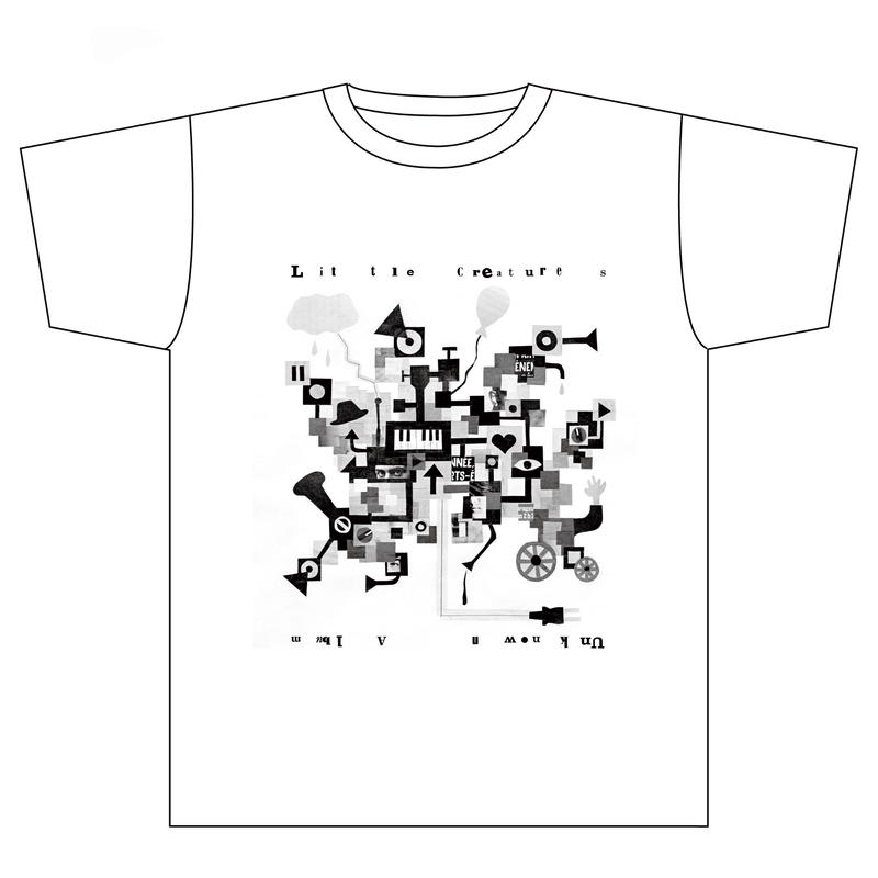 LITTLE CREATURES UnknownTシャツ オーガニックコットンホワイト