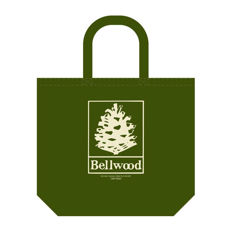 """高田漣 """"Bellwood Records × Just Folks""""トートバッグ モスグリーン"""
