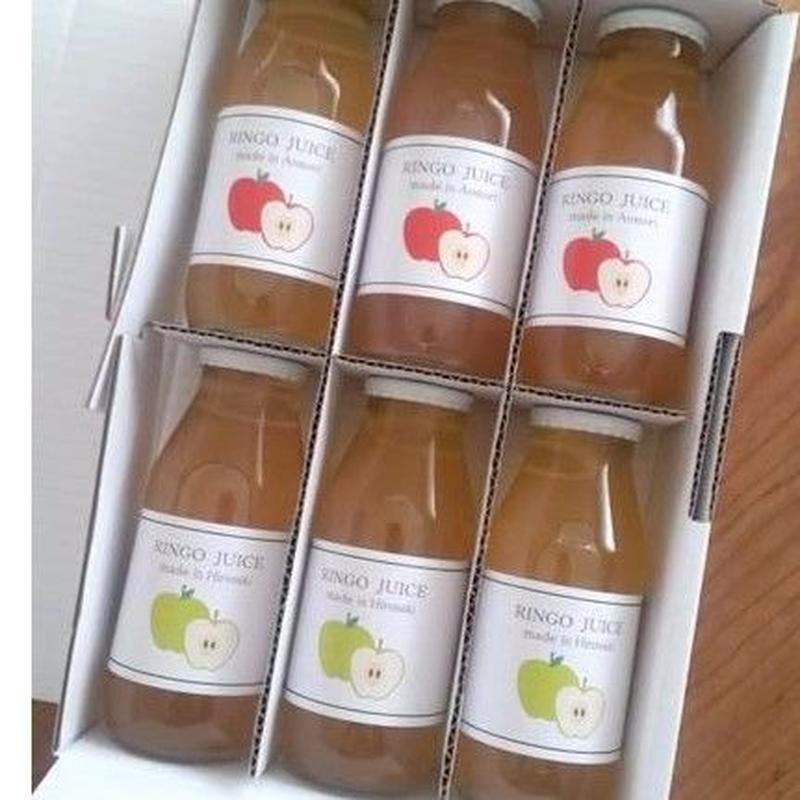 【送料無料】無添加ストレートりんごジュース6本入×2ケース