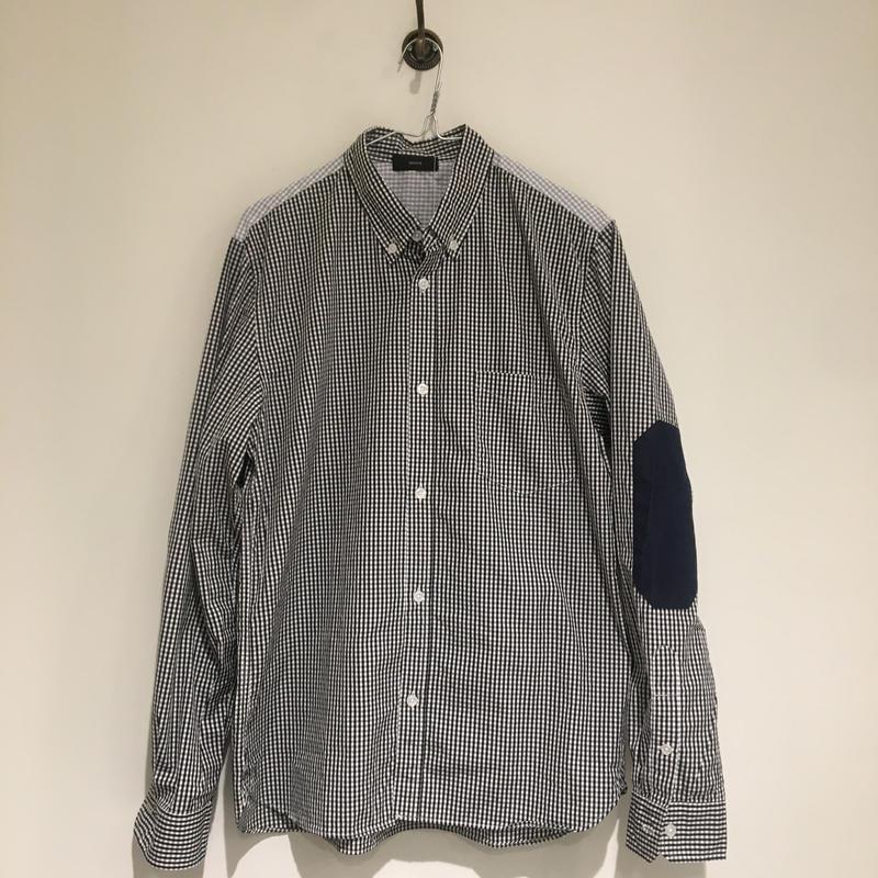¥19,000→¥7,999  GP61FS007 Unisexシャツ/ブラックチェック/サイズ3