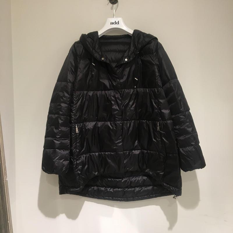 add/リバーシブル春夏用ダウンブルゾン/ブラック