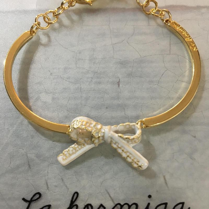 La Hormiga ブレスレット/シンプルホワイトリボン