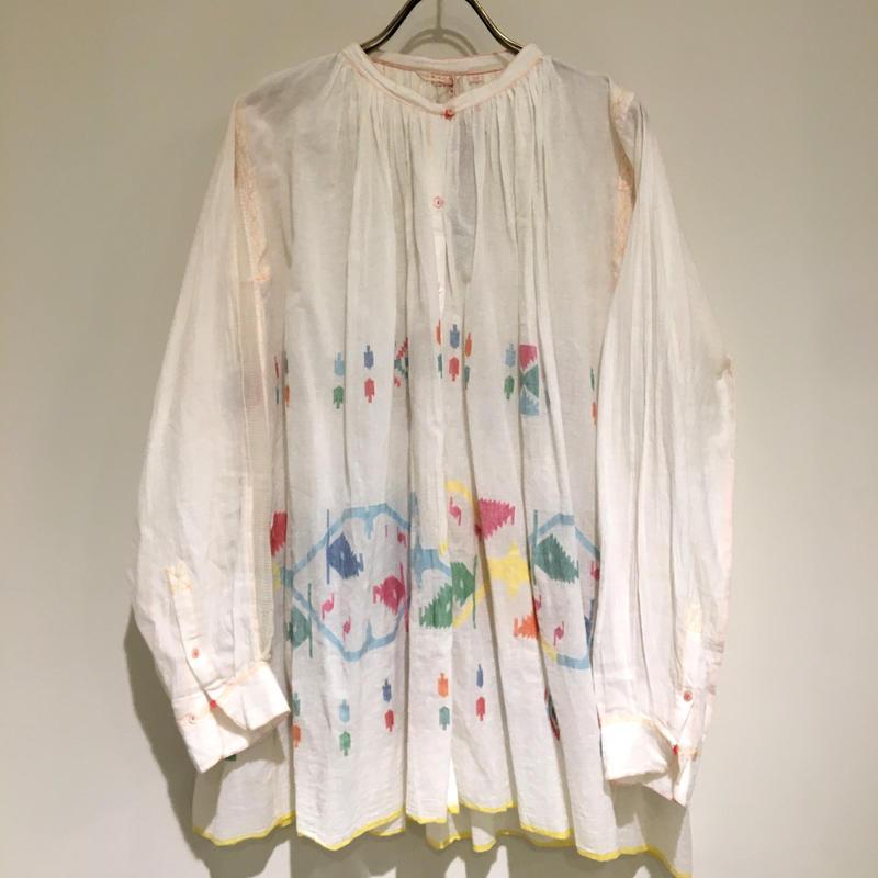 injiriコットンシルクシャツ/38サイズ(M)