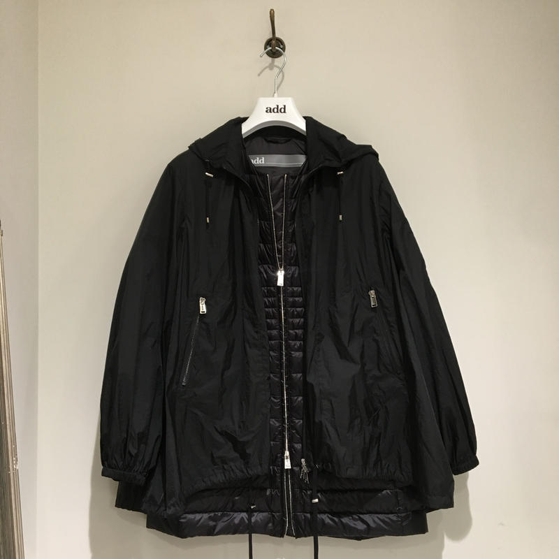 add/ウィンドウブレーカー&春夏用ダウンコートのセット/ブラック/42サイズ