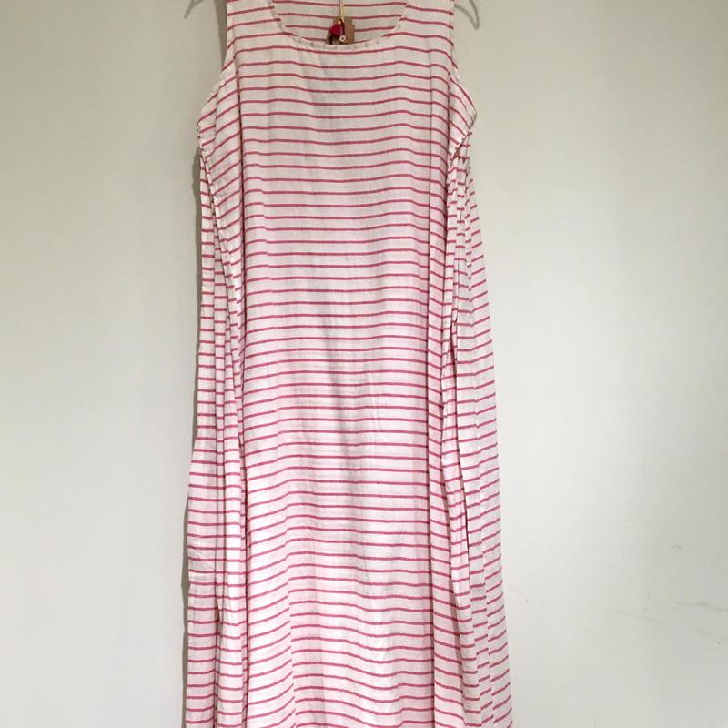 injiriコットンノースリーブドレス/38サイズ(M)