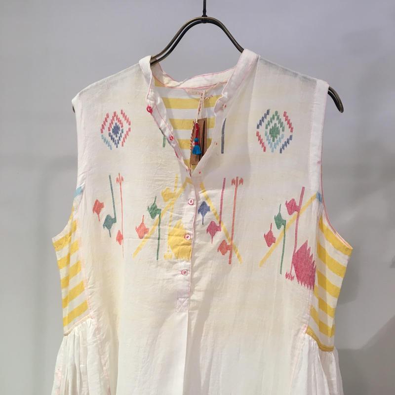 injiriコットンボーダードレス/38サイズ(M)