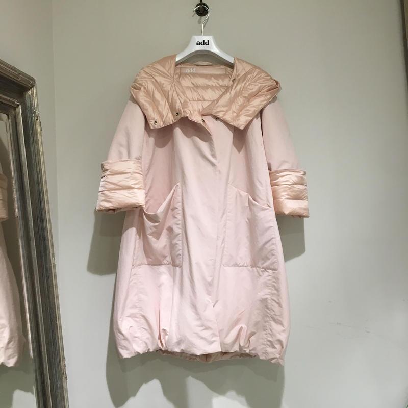 add/リバーシブル春夏用ダウンコート/オーキッド×ライトピンク