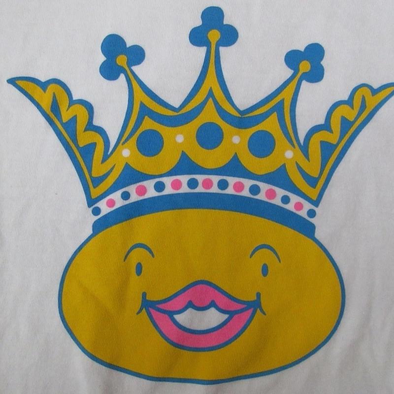 おでんくん CLUB KING コラボ 王冠 Tシャツ M 白 クラブ キング リリー フランキー 桑原茂一 絵本 テレビ アニメ イラスト 芸術ART現代美術【deg】