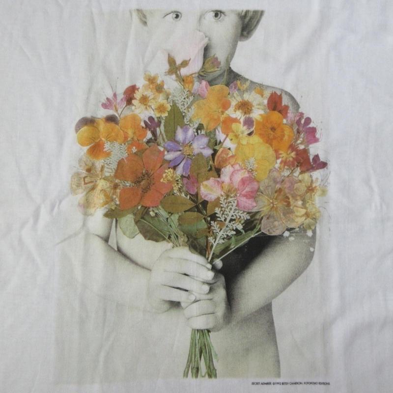 90's USA製 ベッツィ・キャメロン FOTOFOLIO フォト Tシャツ L 白 Betsy Cameron Little Angels 子供 写真 写真家ART芸術【deg】