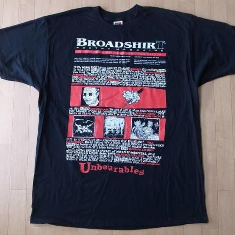 BROADSHIRT POETRY MAGAZINE 1997・Tシャツ サイズ・XL