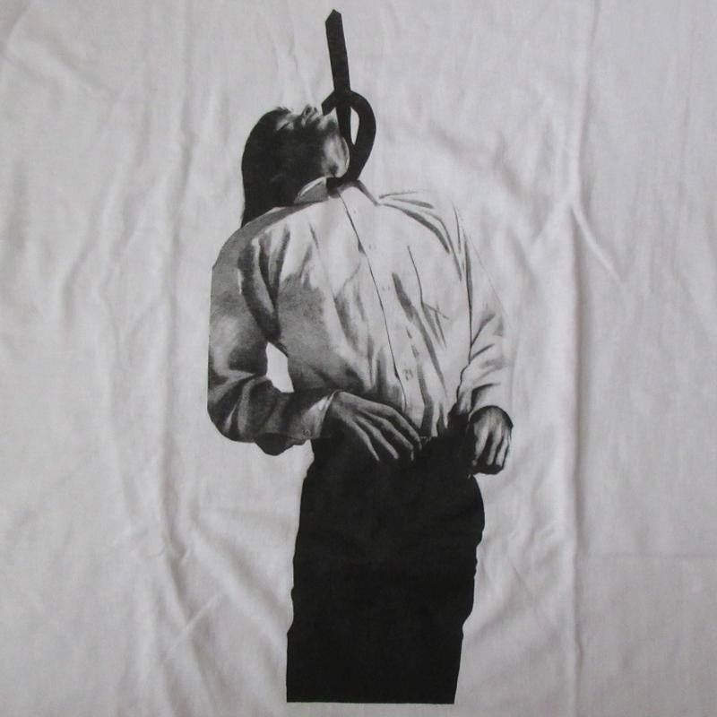 00's Robert Longo FOTOFOLIO UNTITLED Tie Tシャツ XL 白 ロバート・ロンゴ タイ フォトJM MEN IN THE CITIES写真【deg】