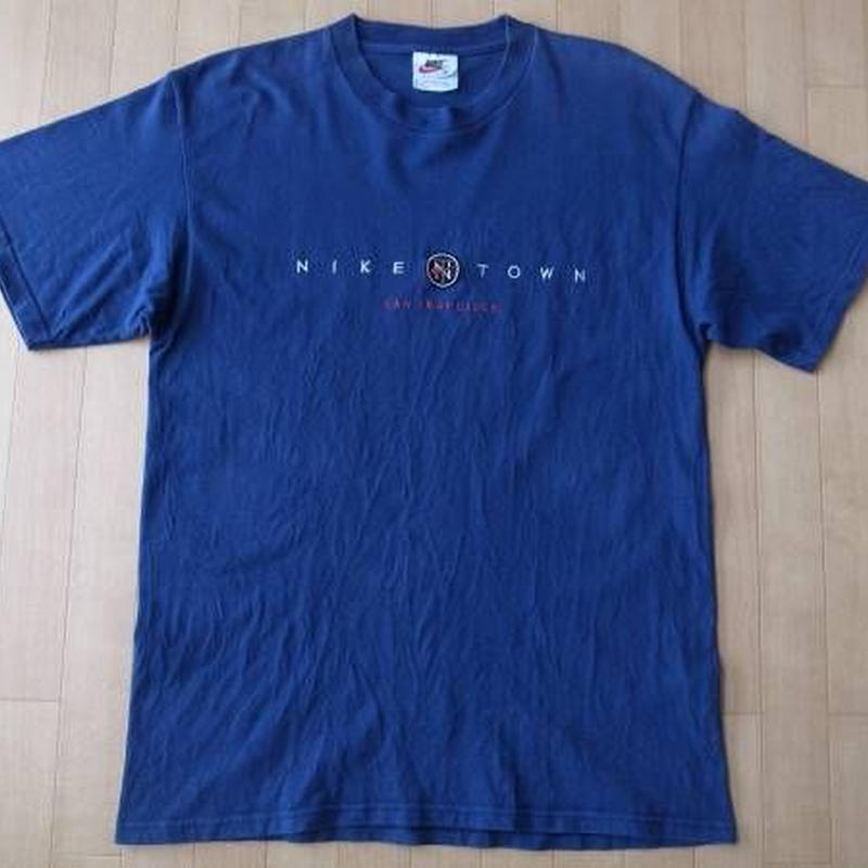 90's USA製 NIKE TOWN 刺繍 半袖 Tシャツ M NSW ナイキ タウン【deg】