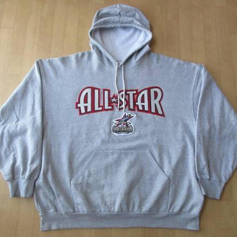 USA製 2002 NBA All Star Game Majestic パーカーXXLフード スウェット マイケル ジョーダン アレン アイバーソン コービー XL【deg】
