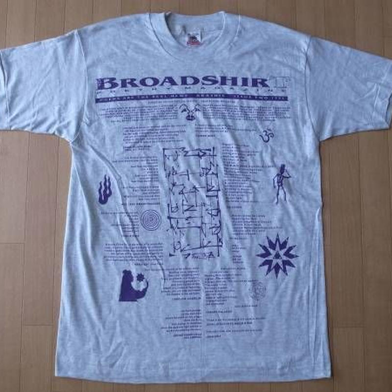 BROADSHIRT POETRY MAGAZINE 1995・Tシャツ サイズ・M MADE IN U.S.A.
