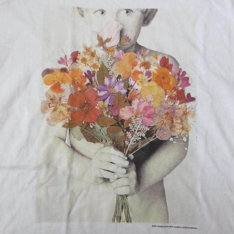 90's USA製 ベッツィ・キャメロン FOTOFOLIO フォト Tシャツ XL 白 Betsy Cameron Little Angels 子供 写真 写真家ART芸術【deg】