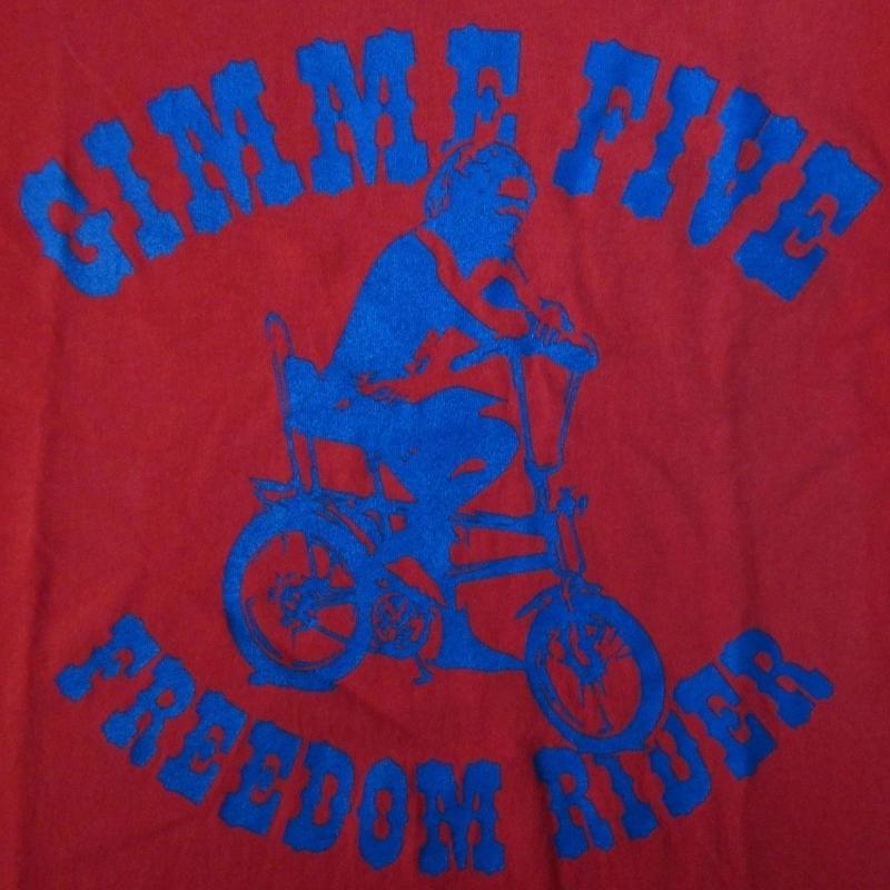 90's 英国製 Gimme Five ローライダー Tシャツ Mレッド系 ギミーファイブ 5 自転車 ローチャリ バイシクル