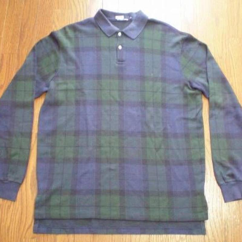 POLO RALPH LAUREN ブラックウォッチ柄 長袖 ポロシャツ シャツ【deg】