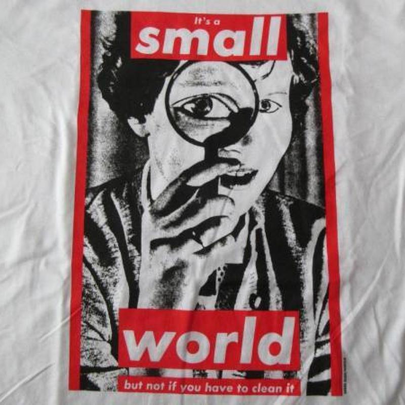 バーバラ・クルーガー FOTOFOLIO It's a small world Tシャツ M 白 Barbara Kruger フォト ART芸術 現代美術 ボックス BOXロゴ【deg】