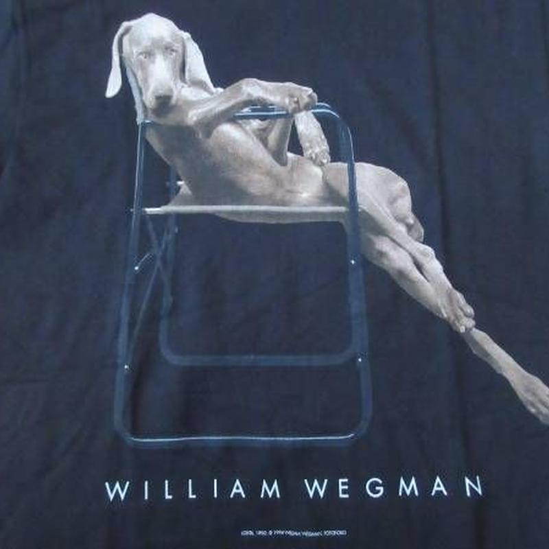 90's William Wegman Weimaraner LOLITA フォト Tシャツ S 黒 ウィリアム ウェッグマン FOTOFOLIO ワイマナラー犬 ART 芸術【deg】