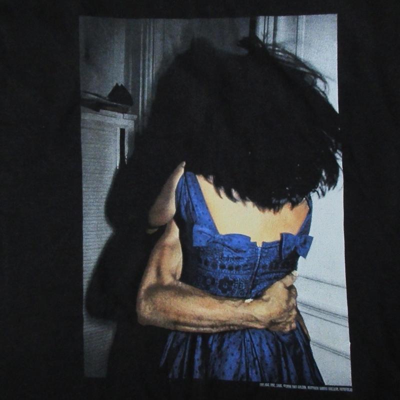 90's ナン・ゴールディン FOTOFOLIO I'LL BE YOUR MIRROR Tシャツ L 黒 Nan Goldin ホイットニー 美術館 フォト ゲイ 同性愛 ポルノ【deg】
