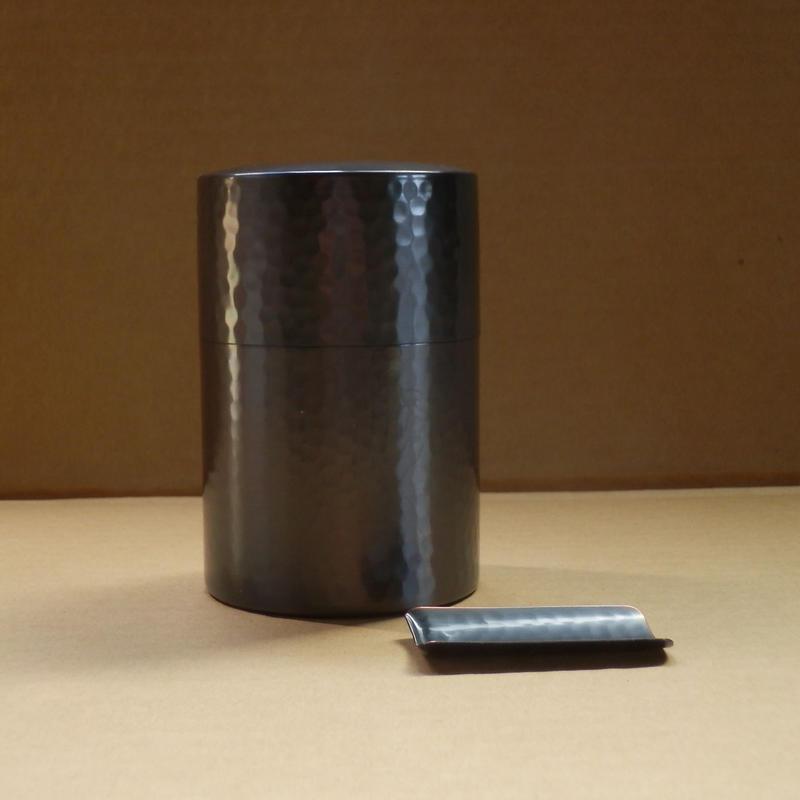 銅製 茶筒 中 茶箕(ちゃみ)付き 新潟県燕市製