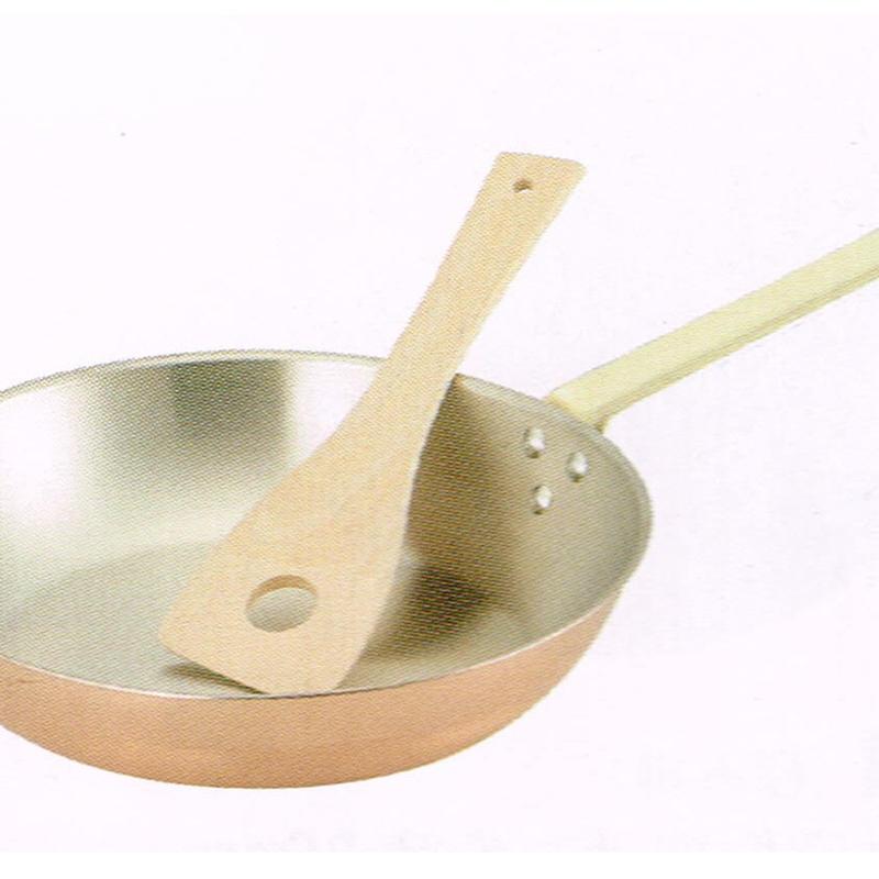 純銅フライパン 25㎝ 木ヘラ付 食楽工房 新潟県燕市製