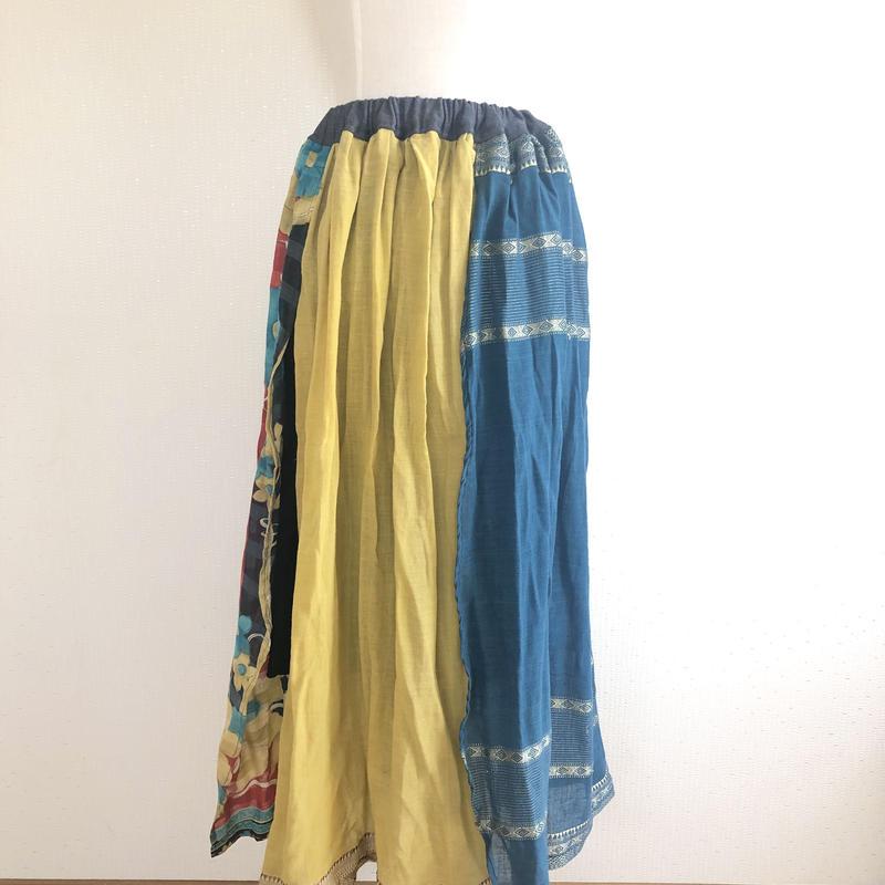 異素材ミックススカート