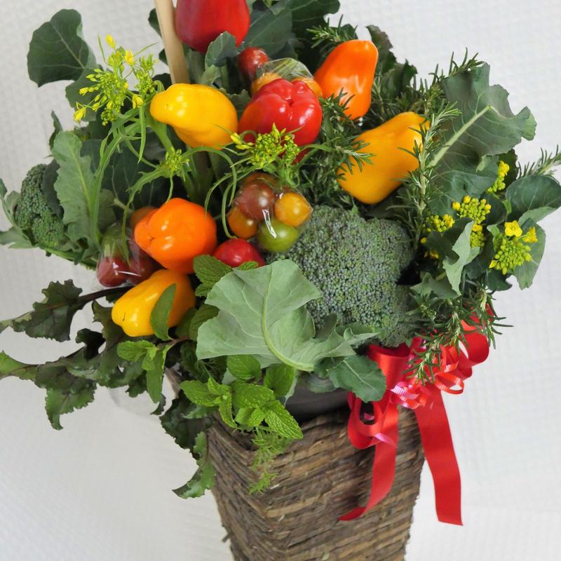 お祝い用野菜ブーケ・スタンドタイプ