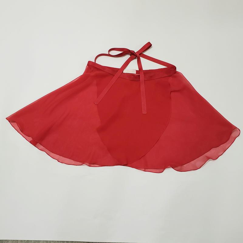 ラメシフォン ラップスカート レッド