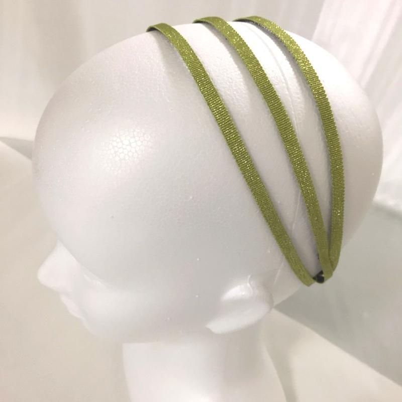 スパイラルリボン メタリックグログラン グリーン