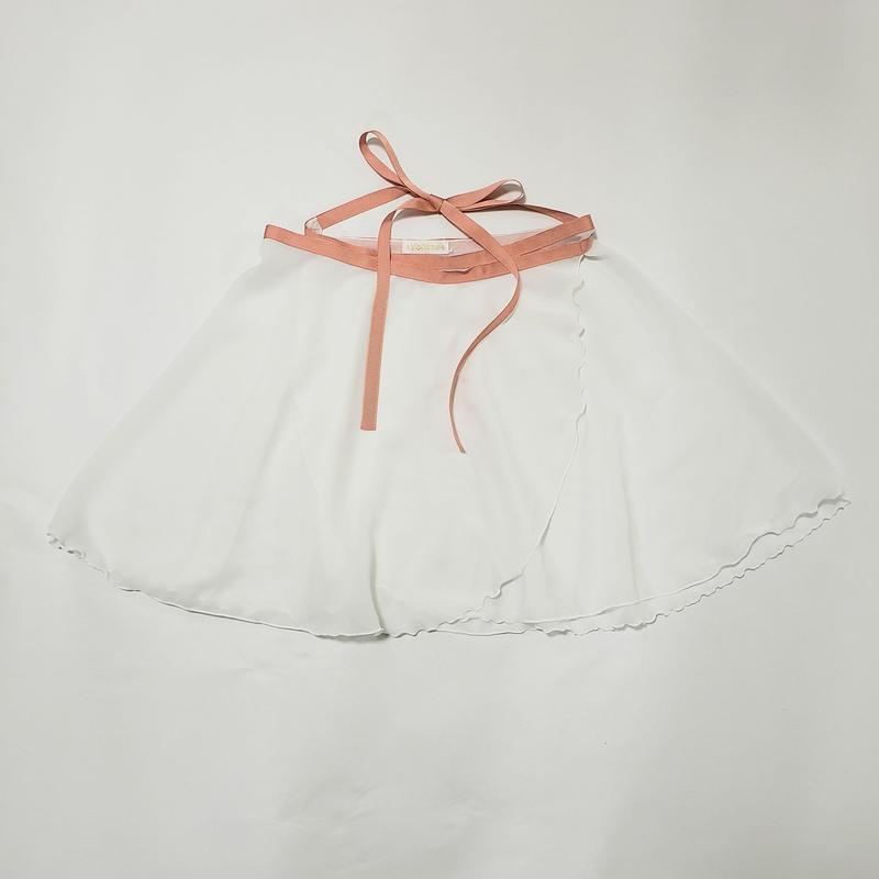 パウダーシフォン ラップスカート ホワイト