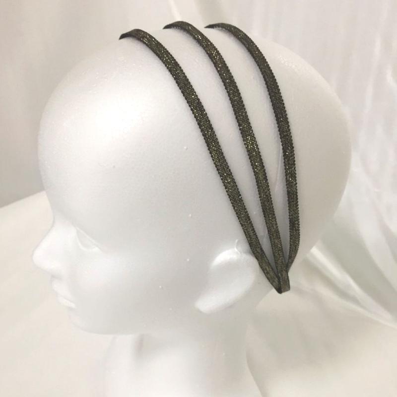 スパイラルリボン メタリックグログラン ブラック