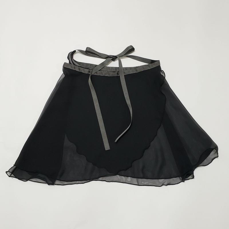 ラメシフォン ラップスカート ブラック