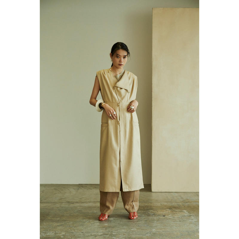 "【""little $uzie"" Original #4】Long Gilet Dress(ls088D)"