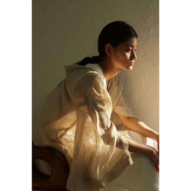 """【""""little $uzie"""" Original #4】2way Linen Kaftan Dress (ls112D)"""