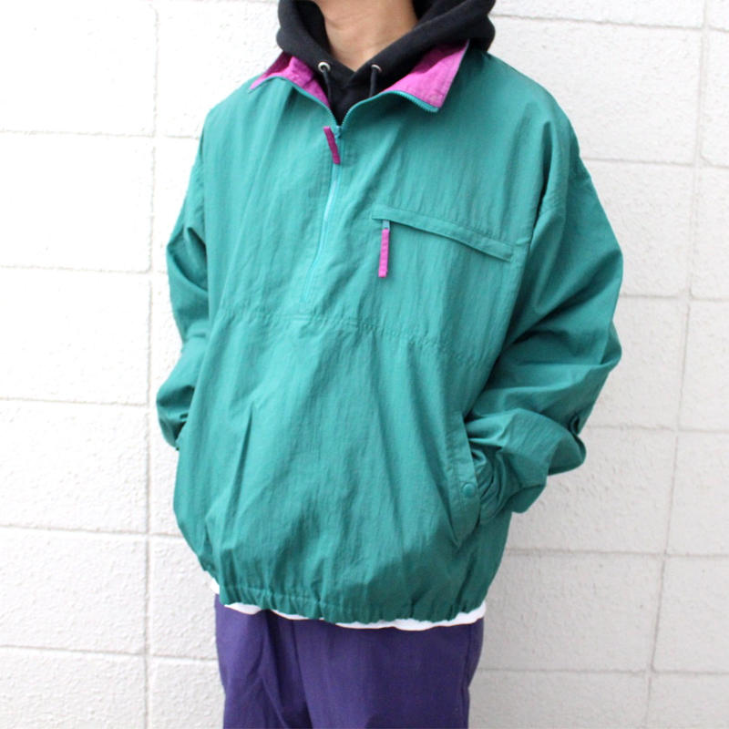 【USED】LAND'S END HALF ZIP NYLON JAKET