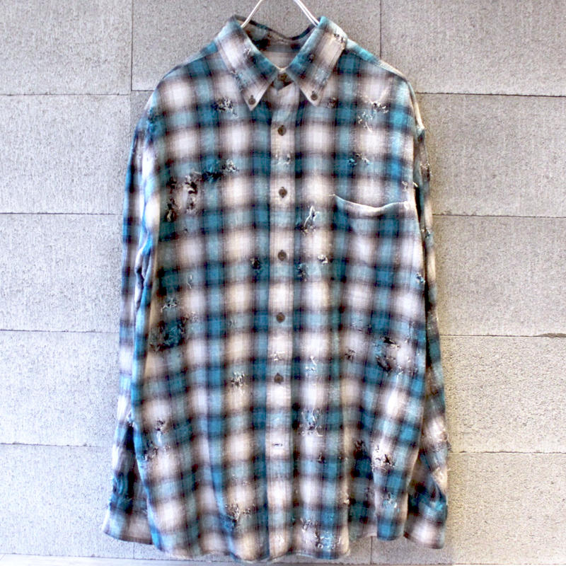 【USED】ST.JOHNS BAY OMBRE GRANGE SHIRTS