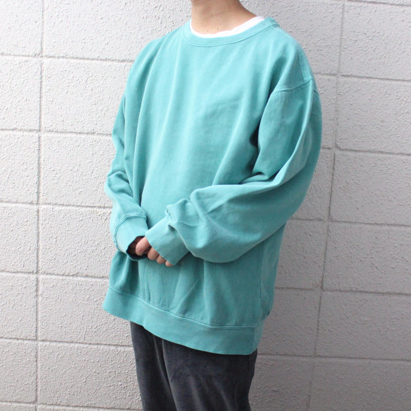 【NEW】NO BRAND PIGMENT-DYE BIG SWEAT