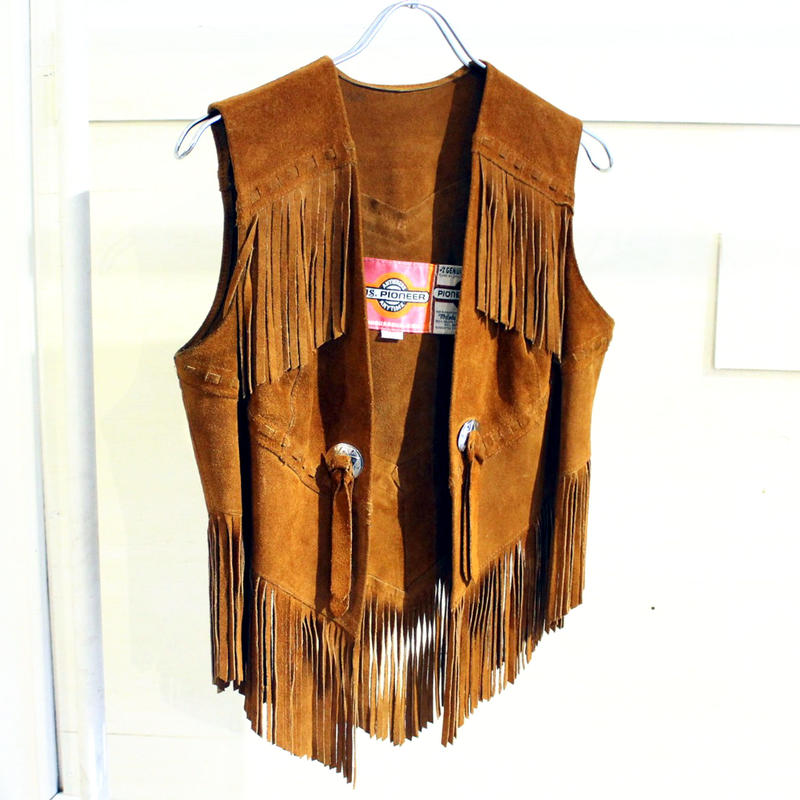 【USED】PIONEER WEAR LEATHER VEST(WOMANS)
