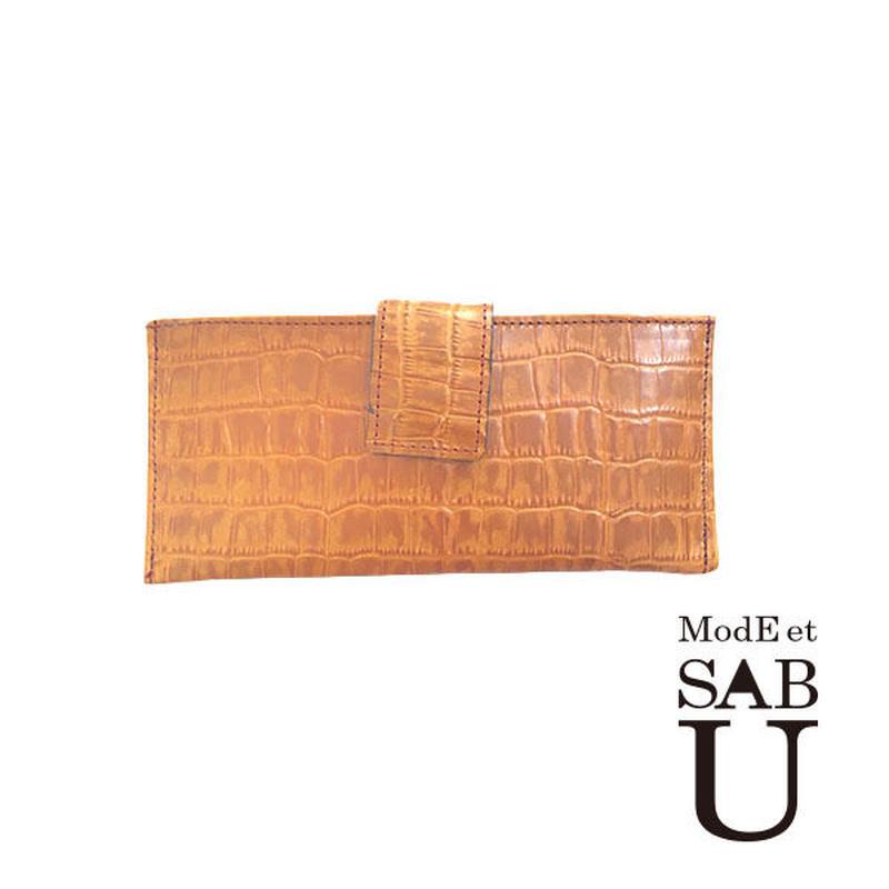 <ModEet SAB>本革レザーお札,カード入れ内布グリーン生地,限定