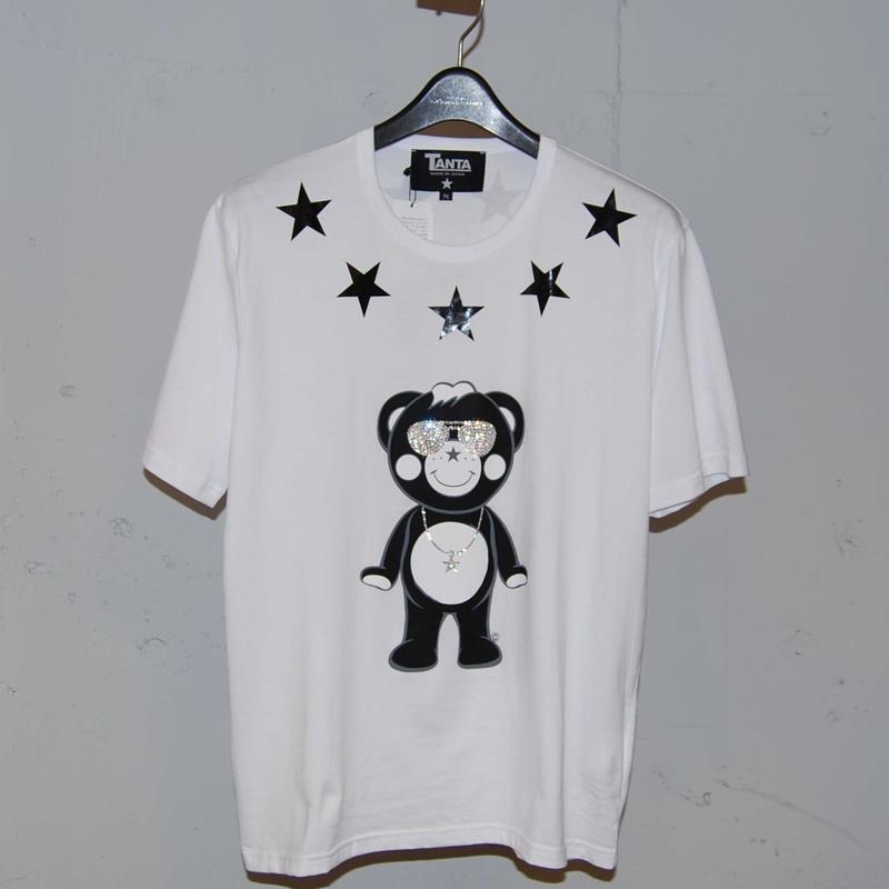 ★TANTA★ DAIMOND   SWAROVSKI ALL STAR CHAPPY クルーネックTシャツ ホワイト